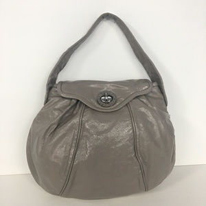 Marc by Marc Jacobs Brown Patent Leather Hobo Bag